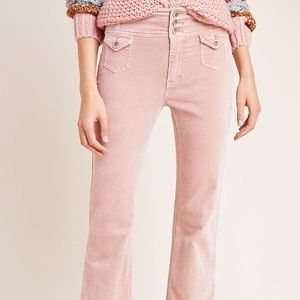 Anthropologie High-Rise Bootcut Corduroy Pants